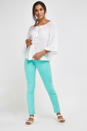 Mint Slim Fit Jeans