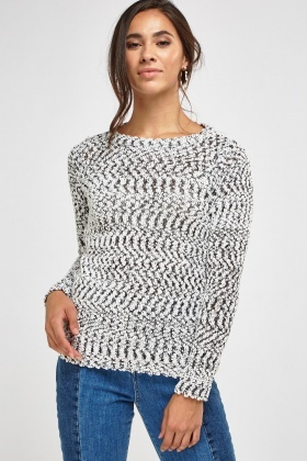 Sequin Speckled Casual Jumper