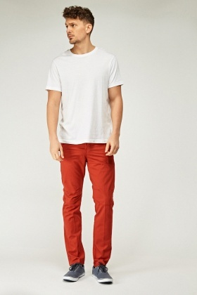Mens Casual Straight Leg Trousers