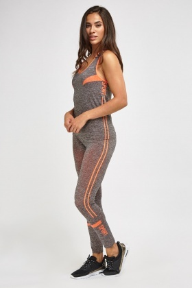 Sports Printed Tank And Leggings Set