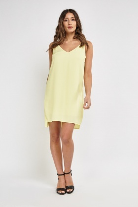 Yellow Camisole Slip Dress