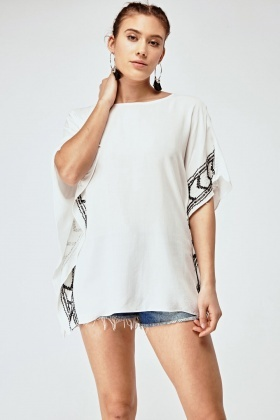 Sequin Side Trim Cover Up Top