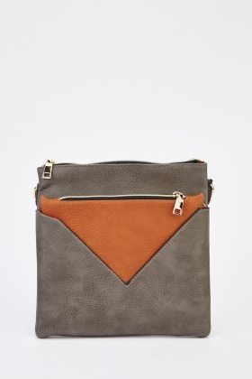 Faux Leather Square Crossbody Bag