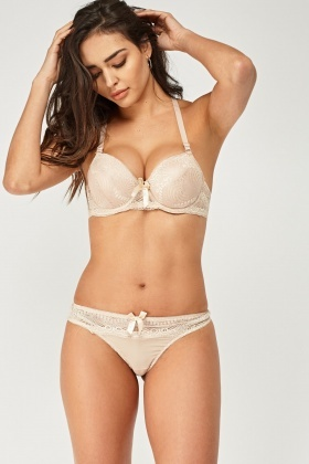 Laced Classic Bra And Brief Set