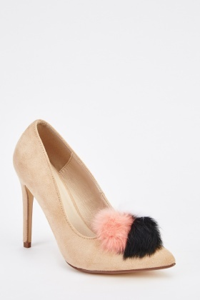 Pom-Pom Court High Heels