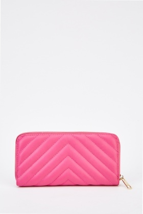 Quilted Faux Leather Purse