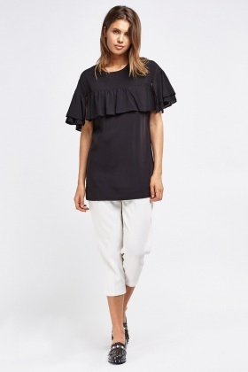Frill Overlay Top