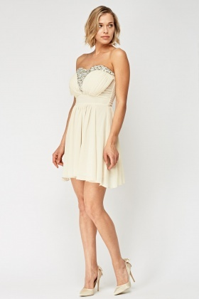 Embellished Front Bandeau Dress