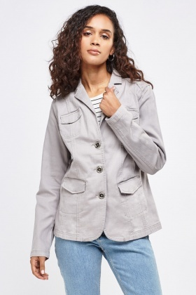 Grey Structured Jacket