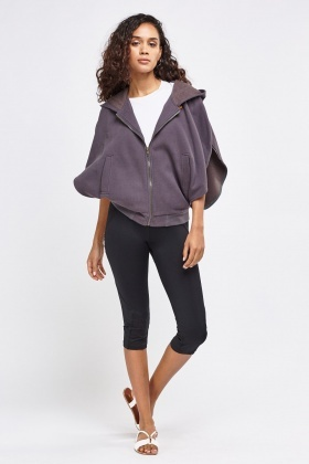 Hooded Fleece Cape