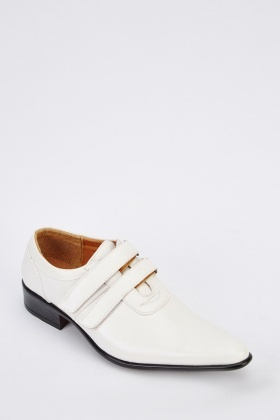 Faux Leather Monk Shoes