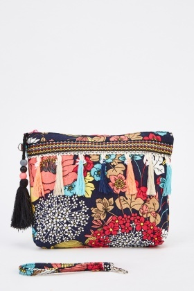 Mixed Floral Cosmetic Bag