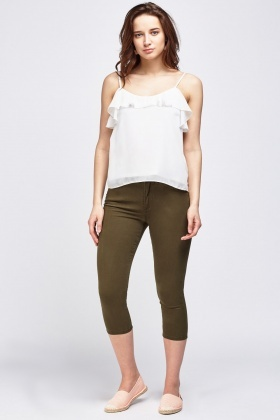 3/4 Cropped Skinny Fit Jeans