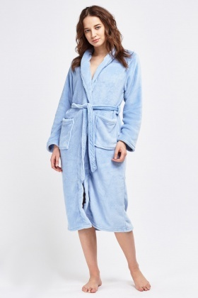 Light Blue Fluffy Dressing Gown - Just £5 079943d03ed9