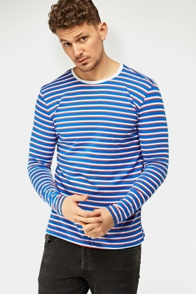 Blue Stripe Long Sleeve T-Shirt