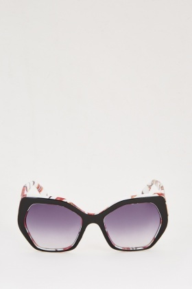 Printed Frame Sunglasses