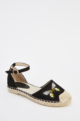 Butterfly Embroidered Espadrilles