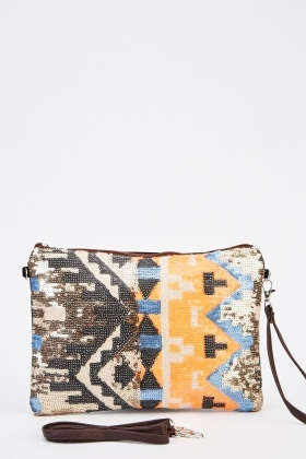 Mixed Print Cosmetic Bag