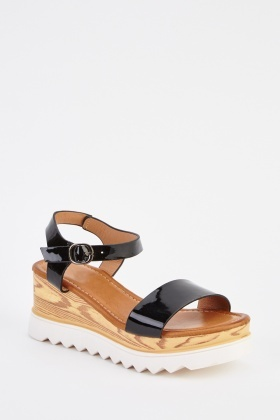 PVC Wedge Open Toe Sandals