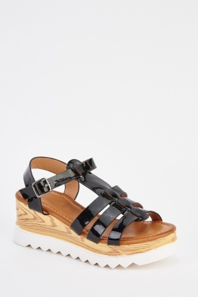 PVC Wedge Sandals