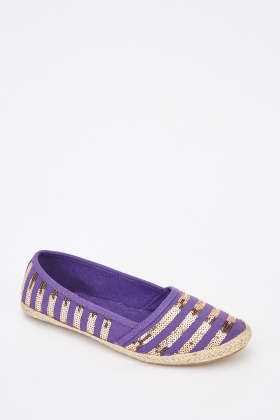 Sequin Espadrille Shoes