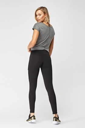 Colour Block Sports Leggings