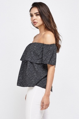Frilly Off Shoulder Top