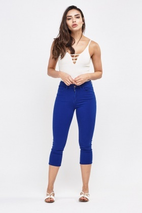 Low Waist Cropped Jeans