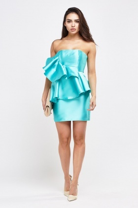 Strapless Ruffle Tiered Dress
