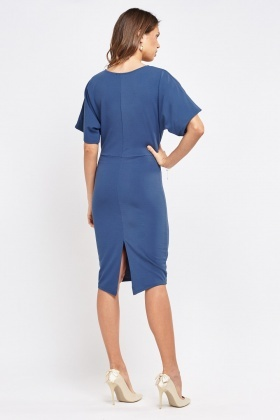 Middle Blue Midi Pencil Dress
