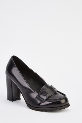 HI-Shine Block Heel Shoes