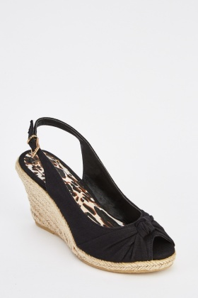 Sling Back Espadrille Wedge