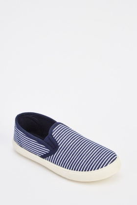 Striped Kids Plimsolls