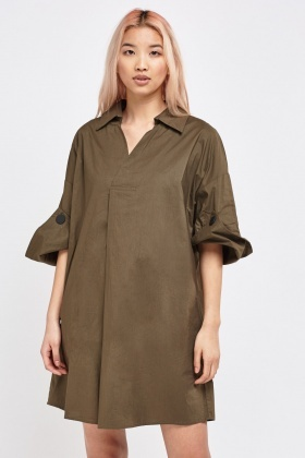 Oversized Shirt Dress