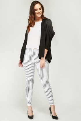 Casual Pinstriped Leggings