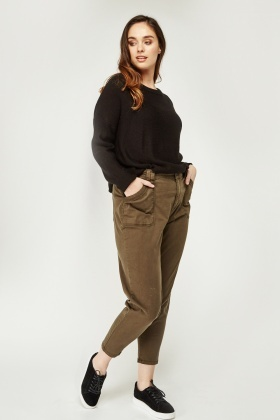 Low Rise Straight Leg Trousers