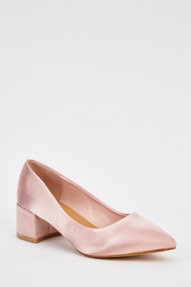 Court Sateen Block Shoes