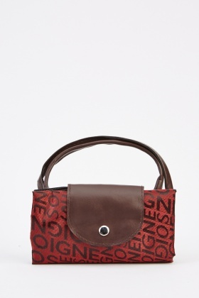 Foldable Shopper Sateen Bag