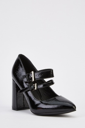 PVC Twin Buckled Shoes