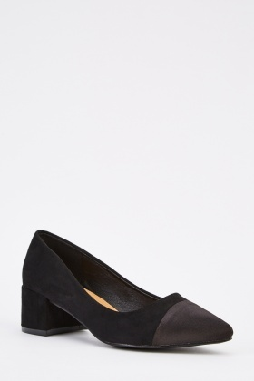 Suedette Block Heel Shoes
