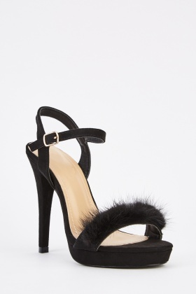 Suedette High Heel Shoes