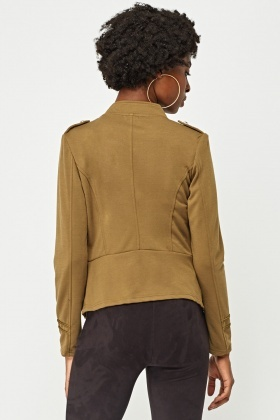 Military Button Front Jacket