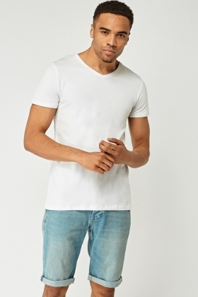 Pack Of 2 V-Neck Basic T-Shirts