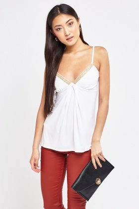 Encrusted Sweetheart Camisole Top