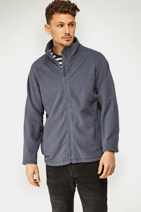 Fleeced High Neck Zipped Jacket