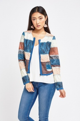 Multi Patch Print Jacket