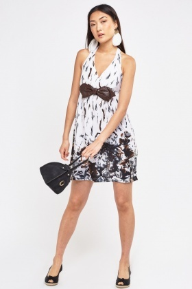 Printed Halter Neck Dress