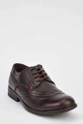 Faux Leather Mens Brogues