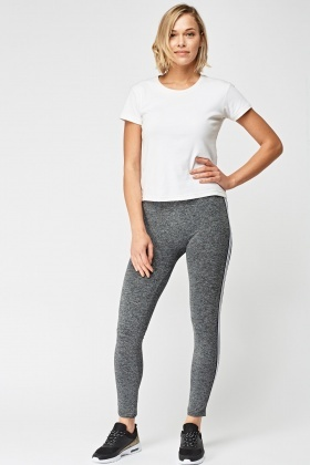 Grey/White Speckled Sports Leggings