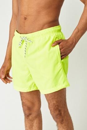 c42a160d19 Neon Yellow Mens Swim Shorts - Just £5